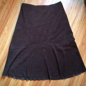 Soft micro suede skirt